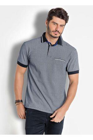 QUEIMA ESTOQUE Homem Camisa Formal - Camisa Polo Estampada com Detalhe Bolso e Gola