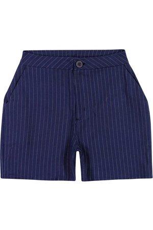 ENFIM Mulher Short - Shorts Escuro Alfaiataria Fio Tinto