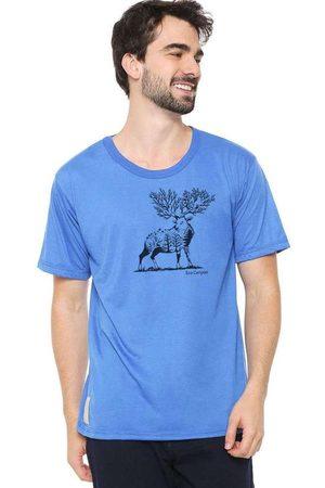 Eco Canyon Camiseta Masculina Cervo Blue