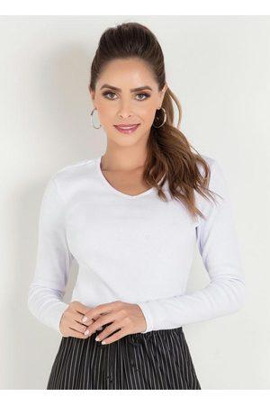 QUEIMA ESTOQUE Blusa Branca com Decote V