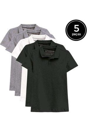 Basicamente Mulher Camisa Formal - Kit de 5 Camisas Polo Femininas de Várias Cores Ci