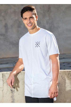 QUEIMA ESTOQUE Homem Manga Curta - Camiseta Branca Mullet com Estampa Costas