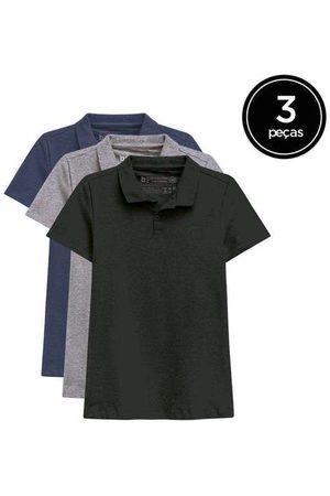 Basicamente Mulher Camisa Formal - Kit de 3 Camisas Polo Femininas de Várias Cores Pr