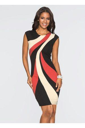QUEIMA ESTOQUE Mulher Vestido Estampado - Vestido Tubinho com Estampa Assimétrica Vermelho