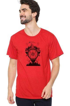 Eco Canyon Homem Manga Curta - Camiseta Masculina Bússola Vermelha Red