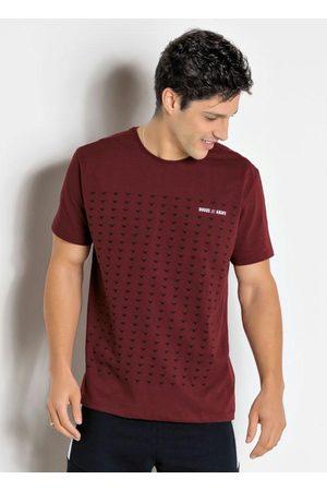 QUEIMA ESTOQUE Camiseta Bordô com Estapa Frontal