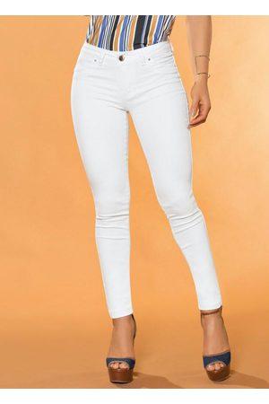 Sawary Jeans Mulher Calça de Alfataria - Calça Legging em Sarja Sawary Branca