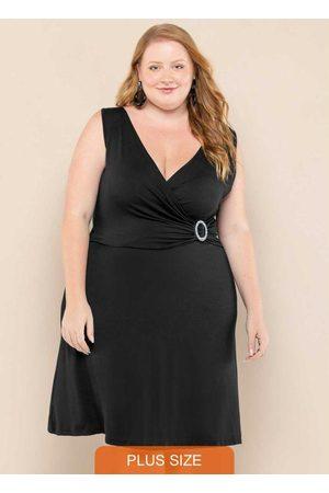 Vinculo Basic Mulher Vestidos - Vestido Plus Size Transpassado