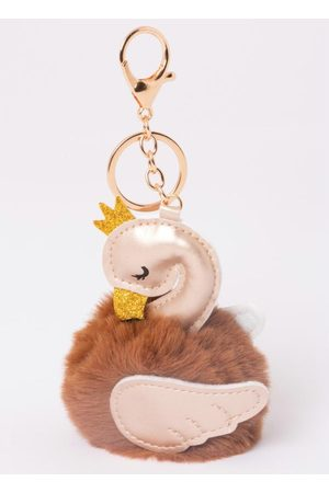 QUINTESS Chaveiro Flamingo com Detalhe Dourado