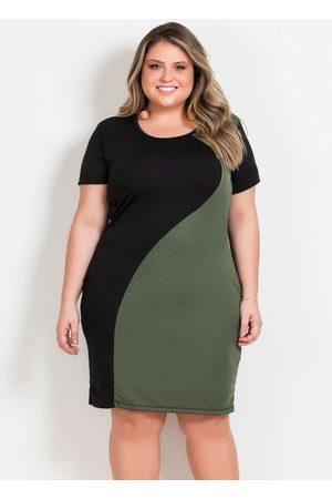Marguerite Vestido Midi e Verde Plus Size