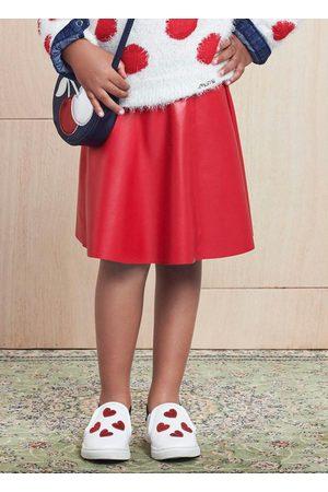 Momi Menina Saias - Saia com Elástico Decorativo Vermelha