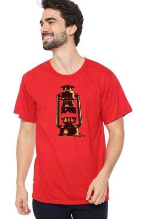 Eco Canyon Homem Manga Curta - Camiseta Masculina Lamparina Vermelha R