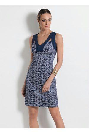 Multimarcas Mulher Vestido Estampado - Vestido com Detalhes Vazados Estampado