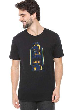 Eco Canyon Homem Manga Curta - Camiseta de Algodão Masculina Lamparina