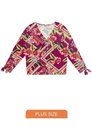 Secret Glam Camisa Feminina Botões Estampa Floral