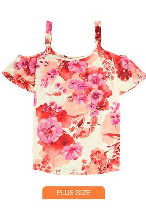 Wee Malwee Mulher Manga Curta - Blusa Ciganinha Florale