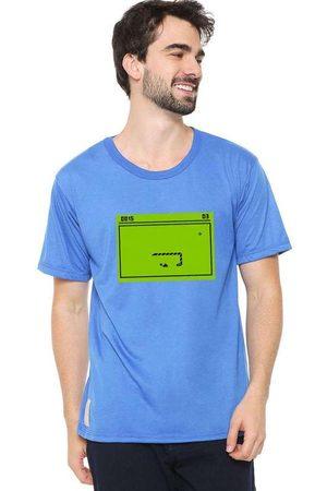 Eco Canyon Homem Manga Curta - Camiseta Masculina Snake Blue