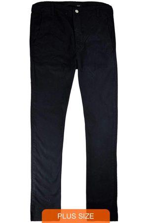 Wee Malwee Homem Calça de Alfataria - Calça Preta Slim Chino em Sarja