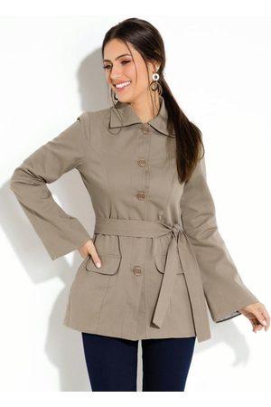 QUINTESS Mulher Trench Coat - Sobretudo com Faixa