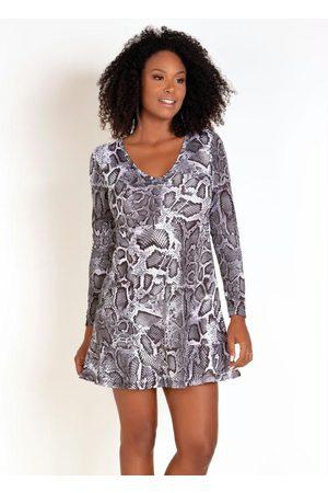 QUEIMA ESTOQUE Mulher Vestido Estampado - Vestido Evasê Animal Print