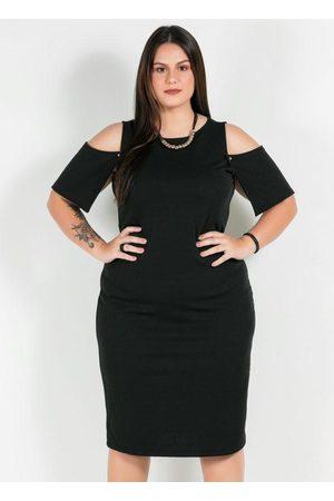 Mink Mulher Vestido Médio - Vestido Plus Size Troca-Mangas