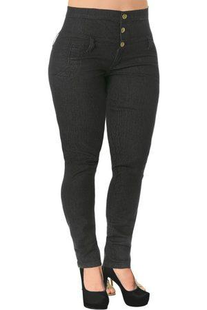 Janine Calça Jeans Escuro Cintura Alta Plus Size