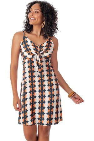Habana Mulher Vestido Estampado - Vestido Estampado com Amarração