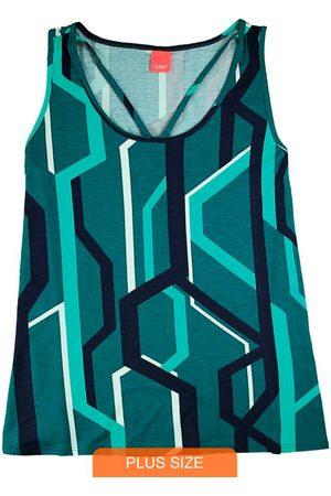 Wee Malwee Mulher Regata - Blusa Strappy Gráfica
