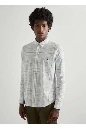Reserva Homem Camisa Casual - Camisa Grid Maxi