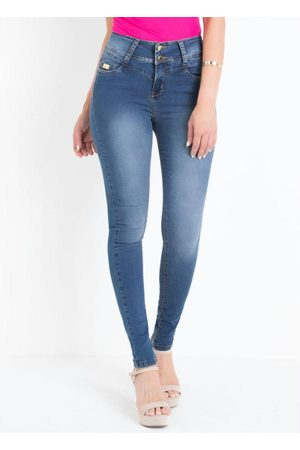 Sawary Jeans Calça Skinny Cintura Auto Ajuste