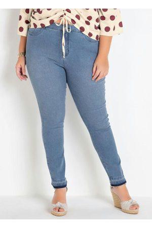 Mink Calça Jeans Plus Size Clara Cintura Alta