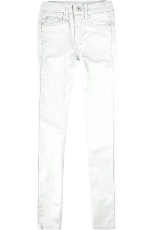 Malwee Calça Branca Skinny Flex Jeans em Sarja Feminina