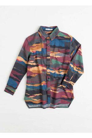 Reserva Mini Menino Camisa Manga Comprida - Camisa Mini Sm Listra Rasgada