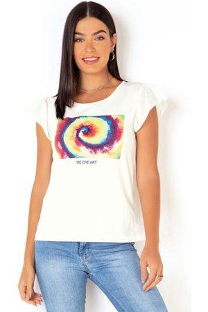 QUEIMA ESTOQUE T-Shirt Off White Estampa Tie-Dye