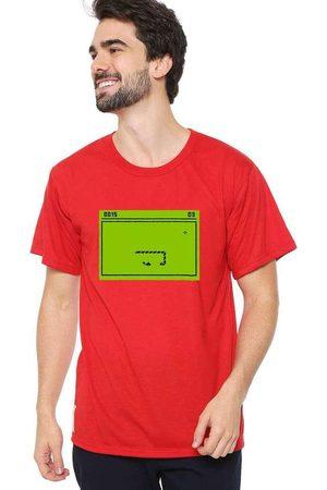 Eco Canyon Homem Manga Curta - Camiseta Masculina Snake Red