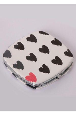 QUINTESS Mini Espelho Quadrado com Corações