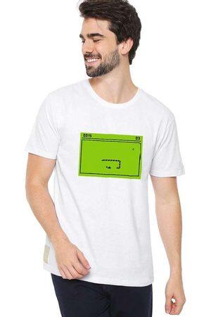 Eco Canyon Homem Manga Curta - Camiseta Masculina Snake White