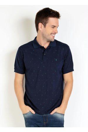 Actual Homem Camisa Formal - Camisa Polo Estampa Geometria Marinho