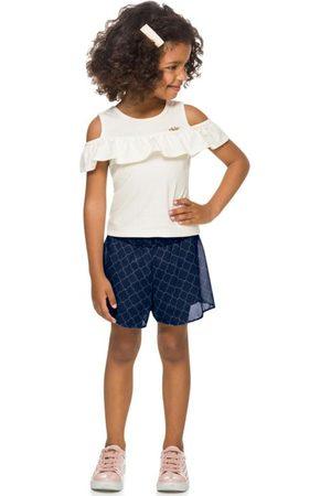 MILON Menina Conjuntos - Conjunto Infantil Off White