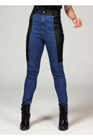 QUINTESS Calça Jeans com Sarja Resinada nas Laterais