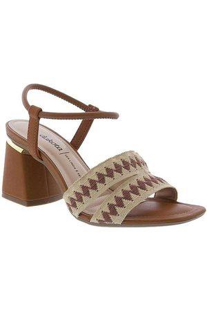 Dakota Mulher Sandálias - Sandalia Salto Geometrico Tiras Caramelo Ca