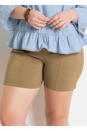 QUEIMA ESTOQUE Shorts Justo com Cintura Alta Quintess