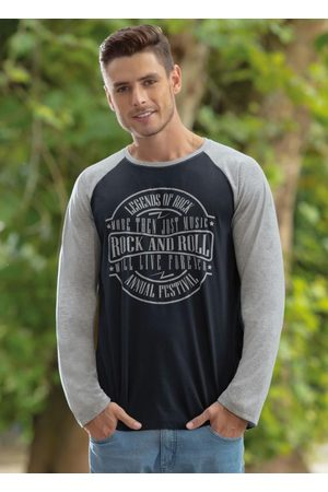 QUEIMA ESTOQUE Camiseta Manga Longa Preta