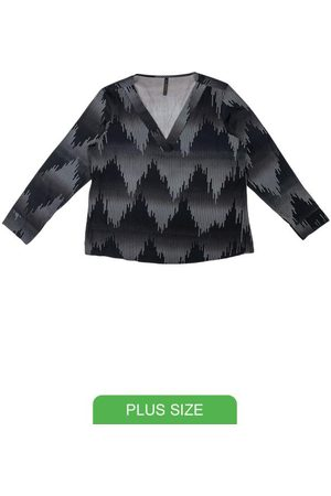 Cativa Blusa com Decote V e Estampa