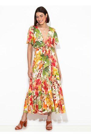 Gentleman Farmer Mulher Vestido Estampado - Vestido Cropped Floral Frutado