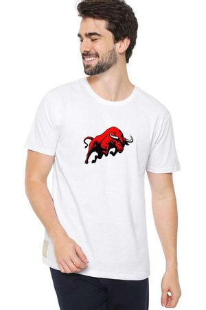 Eco Canyon Homem Manga Curta - Camiseta Masculina Bulls White