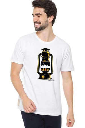 Eco Canyon Homem Manga Curta - Camiseta Masculina Lamparina Branca Whi