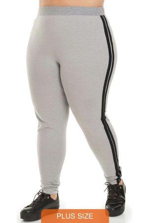 Miss Masy Plus Calça Plus Size Listra Lateral Esporte
