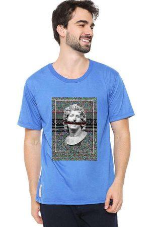 Eco Canyon Homem Manga Curta - Camiseta Masculina Busto Blue