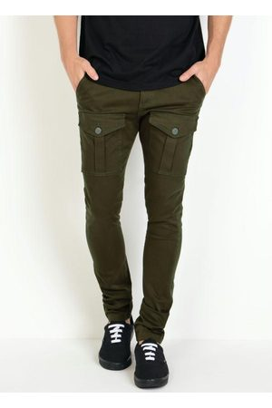 Actual Calça Militar Skinny em Sarja